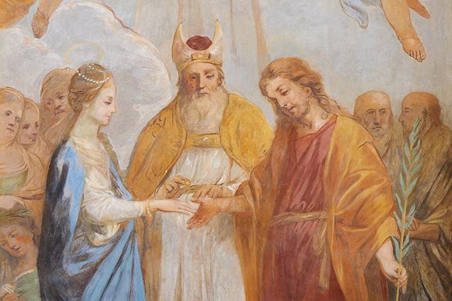 Ślub Józefa i Maryi - fresk