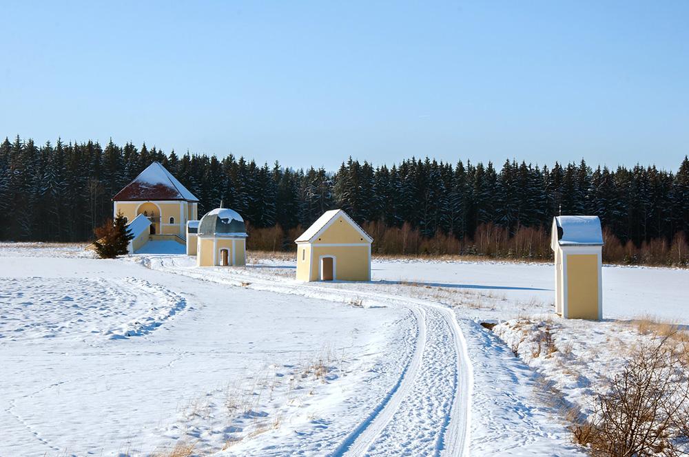 Kalwaria Krzeszowska zimą