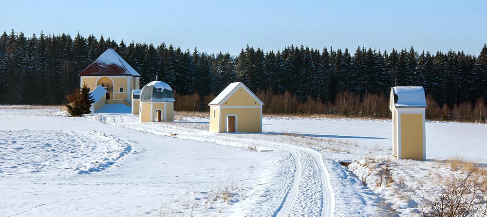 Kalvárie v Křešově, zima
