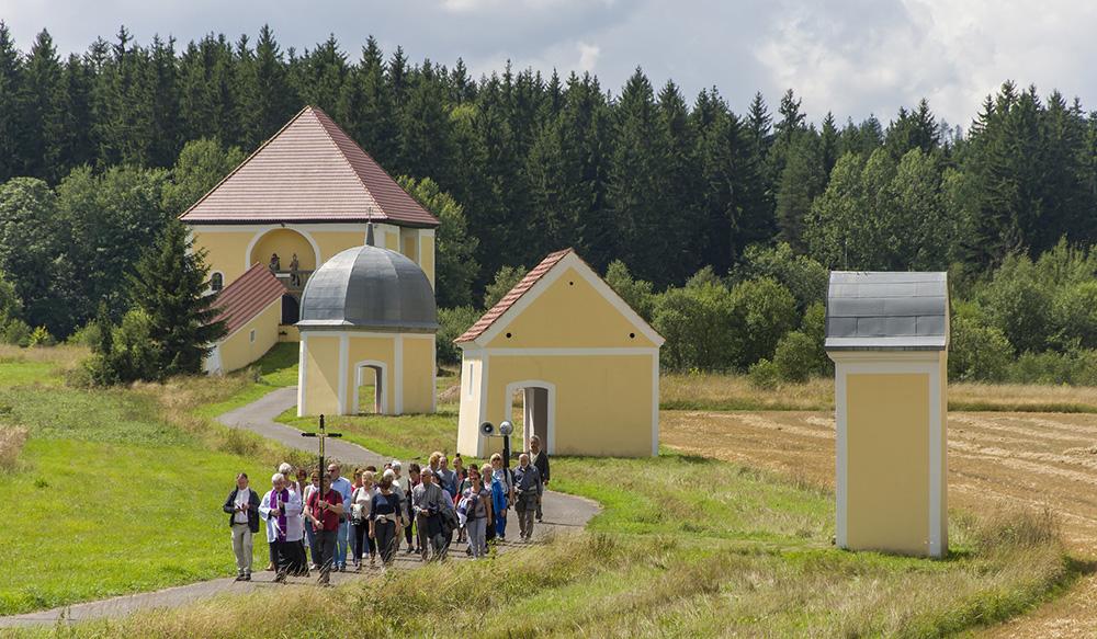 Kalvárie v Křešově, léto