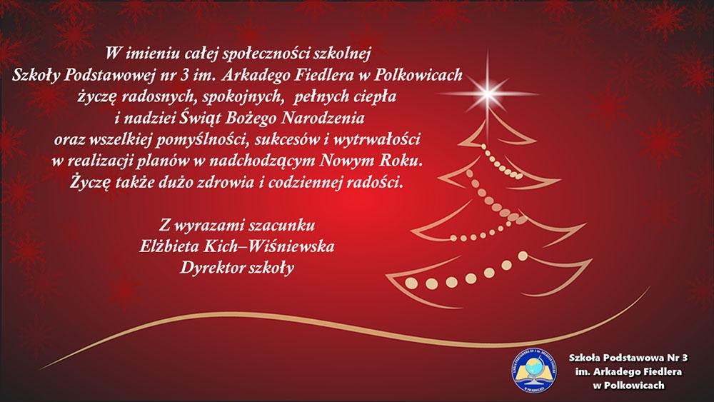 Życzenia szkoła w Polkowicach