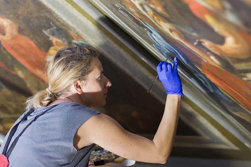 Letni Pawilon Na Wodzie renowacja obrazów