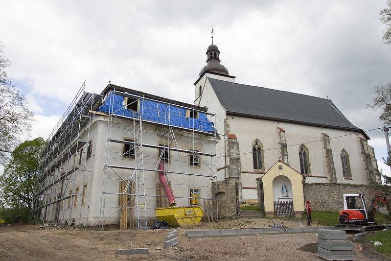 Prace remontowe w Krzeszówku
