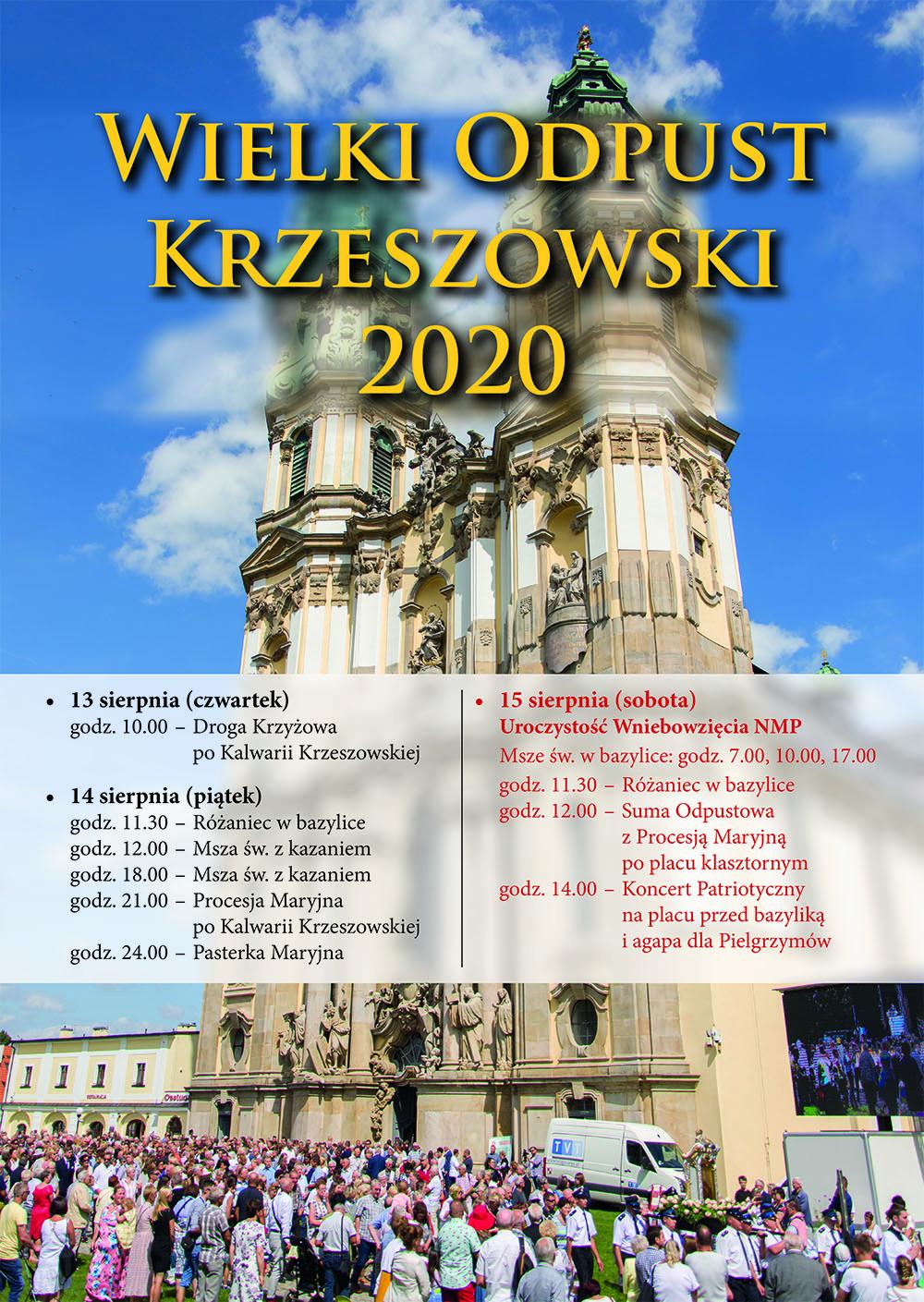 Wielki Odpust Krzeszowski 2020 - Plakat