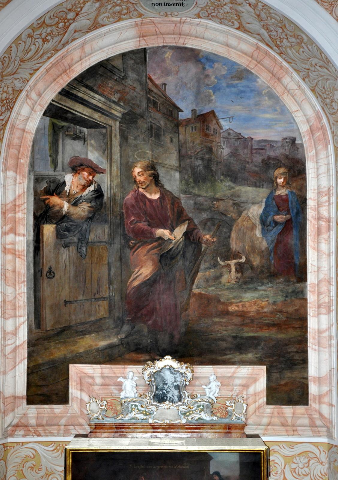 św. Józef poszukuje noclegu w Betlejem Michał Willmann