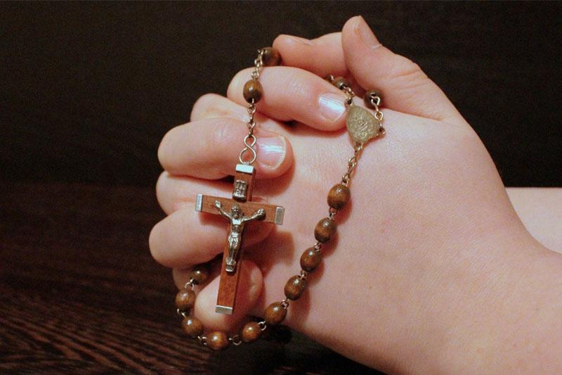 Modlitwa na różańcu