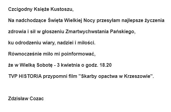 życzenia Zdzisław Cozac