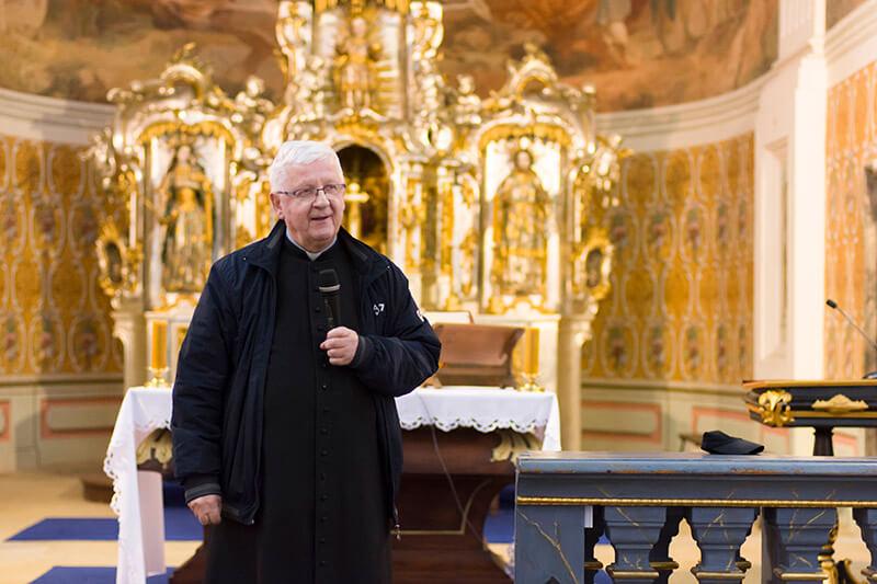 Ks. Marian Kopko w kościele św. Józefa